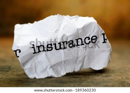 Insurance - stock photo