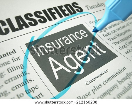 Insurance Agent (job search)   - stock photo