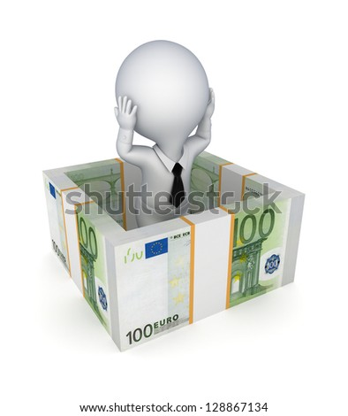 Insurance concept.Isolated on white background.3d rendered. - stock photo