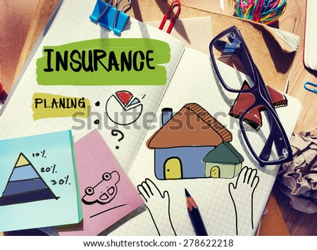 Insurance Document Home Residental Structure Concept - stock photo