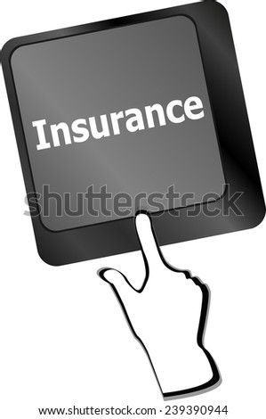 Insurance key in place of enter key - stock photo