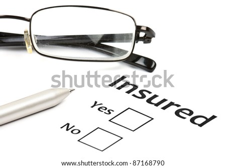 insurance or risk concept - stock photo