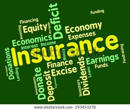 Insurance Word Indicating Wordcloud Financial And Words