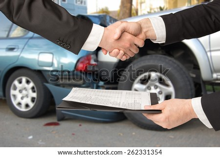 insured event - stock photo