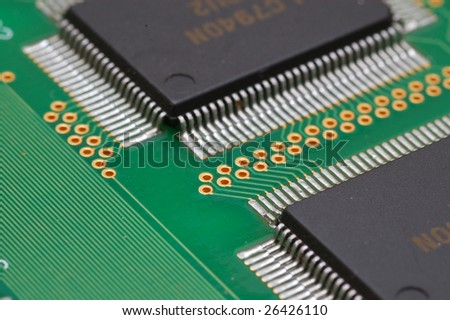 Integrated Circuits On Printed Circuit Board Stock Photo (Safe to ...