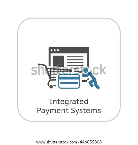 Integrated Payment Systems Icon. Flat Design. Business Concept. Isolated Illustration.