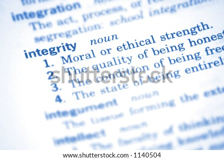 Integrity - stock photo