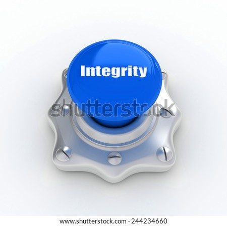 integrity button - stock photo