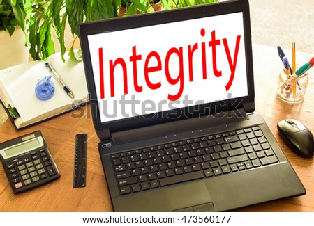 Integrity. Concept office