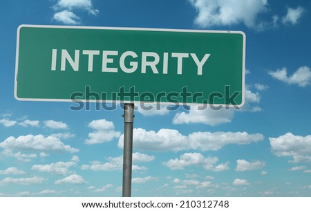 Integrity creative sign - stock photo