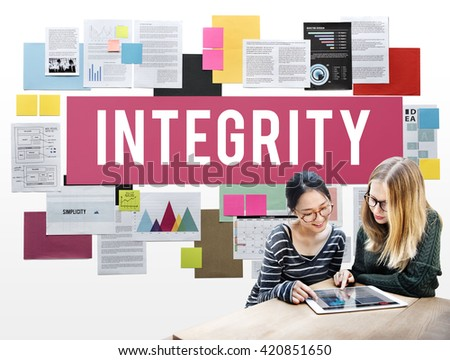 Integrity Ethics Loyalty Moral Motivation Respect Concept - stock photo