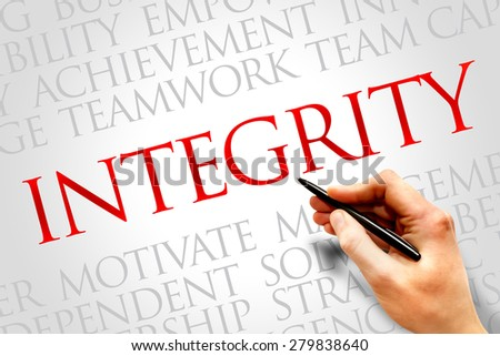 Integrity word cloud, business concept