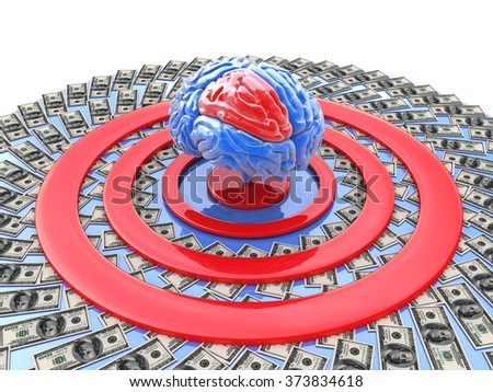 intellectually-financial goal for the design of information related to the tasks of personality development - stock photo