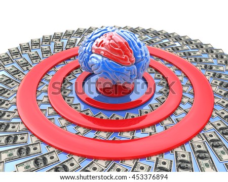 intellectually-financial goal for the design of information related to the tasks of personality development. 3d illustration - stock photo