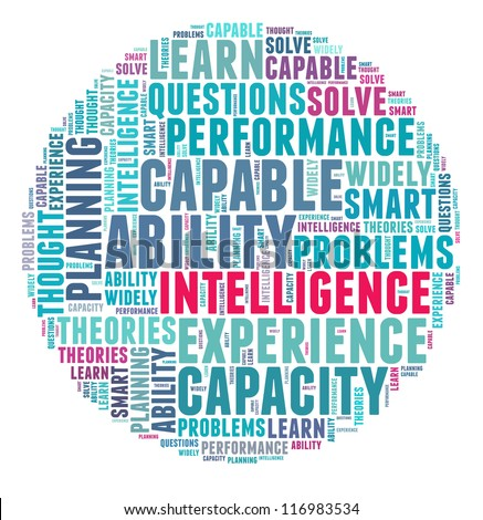 Intelligence in word collage