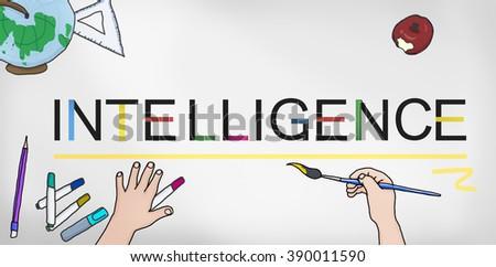 Intelligence Intelligent Smart Genius Insight Skilled Concept - stock photo