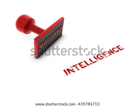 intelligence stamp - 3D illustration