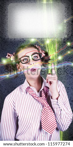 Intelligent Accountant Person Pointing Up To Futuristic Technology Graph And Screen In A Copyspace Concept Of Digital Finance Growth - stock photo