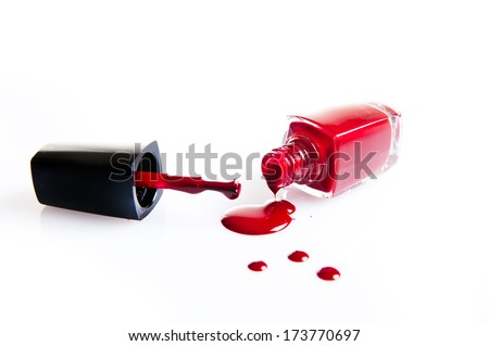 Intense color nail polish isolated