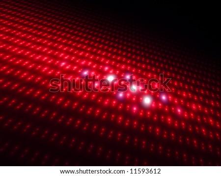 Intense Red Orbs 3D - Fractal Design - stock photo