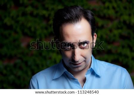 Intense stare portrait - stock photo