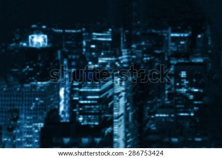 intentionally blurred background of a night city