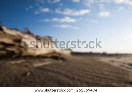 Intentionally Blurred Beach Driftwood Background - stock photo