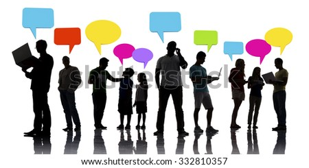 Interaction People Social Networking Technology Concept