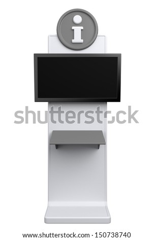 interactive info point or booth - stock photo