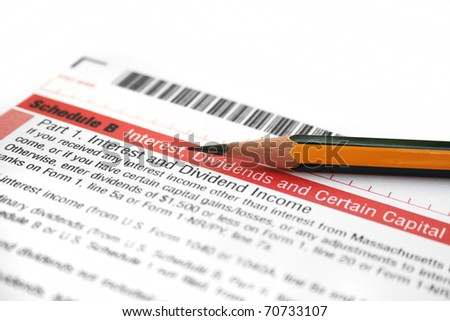 Interest and dividends income - stock photo