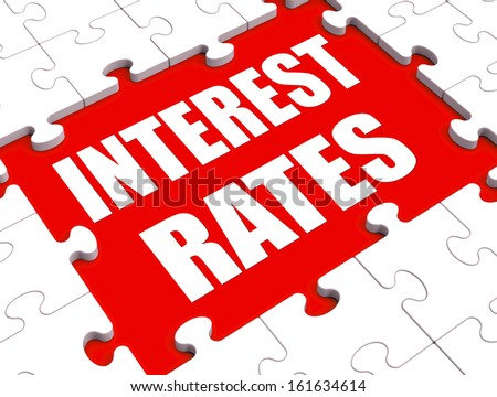Interest Rate Puzzle Showing Investment Or Borrowing Percent - stock photo