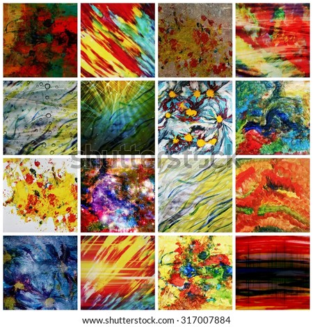 Interesting abstract backgrounds or Colorful abstract backgrounds, Fall backgrounds, Autumn, October, Art design, Creative backgrounds, Abstract art, Abstract lines, Concept art, Art therapy, Art - stock photo
