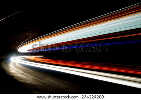 Interesting and abstract lights in color that can be used as background or texture - stock photo