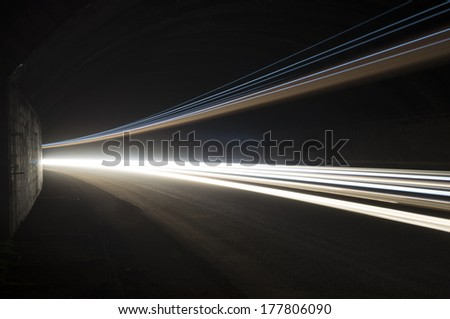 Interesting and abstract lights in white that can be used as background or texture - stock photo