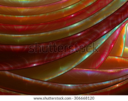 Interesting geometric texture in warm colors with autumn mood - stock photo