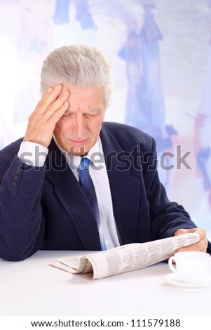 Interesting man, working in very different fields of activity - stock photo