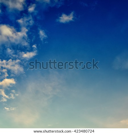 interesting sky with clouds - stock photo