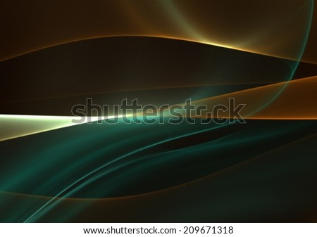 Interesting, with silky texture, abstract background - graphically, in chocolate emerald palette - stock photo