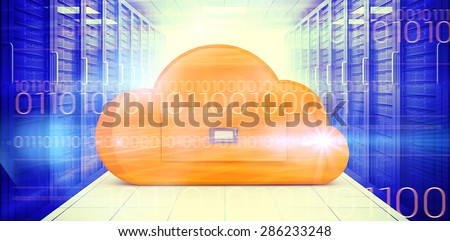 interface against composite image of cloud computing drawer - stock photo