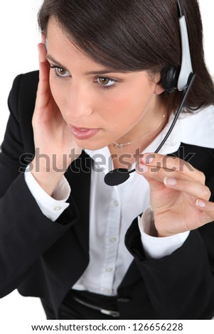 Interferences in communication - stock photo