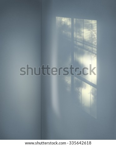 Interior Background Cement Copy Space Room Shadow Concept - stock photo