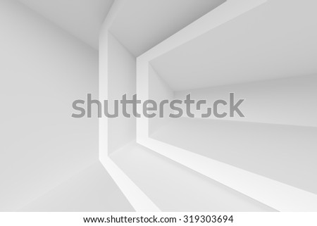 Interior Background. White Abstract Background - stock photo