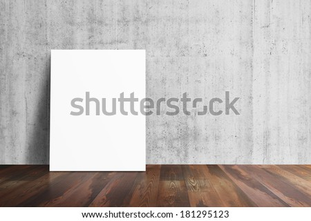 Interior background with paper