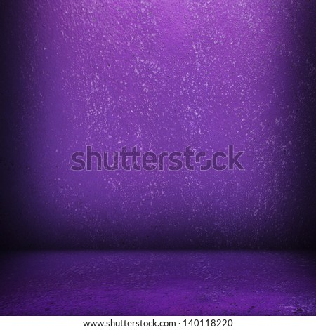 interior background with purple paint - stock photo