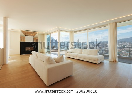Interior, big livingroom - stock photo