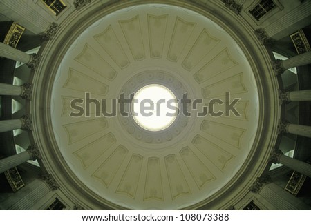 Interior ceiling of the Federal Hall, New York