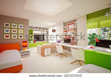interior children's bedroom in modern style