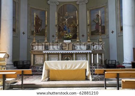 Interior Church. Castiglione del Lago. Umbria. - stock photo