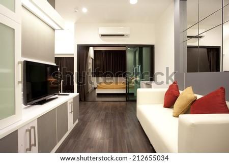 interior condominium - stock photo