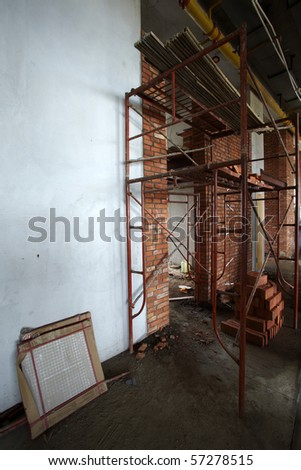 Interior construction site